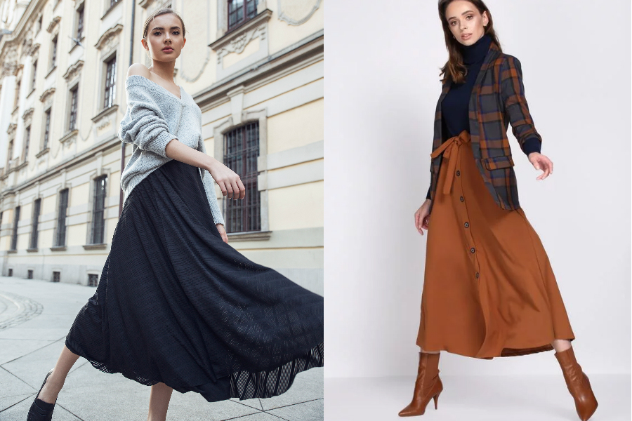 eleganckie długie spódnice