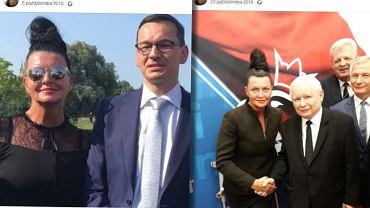 Beata Boros-Burlingo z Mateuszem Morawieckim i Jarosławem Kaczyńskim