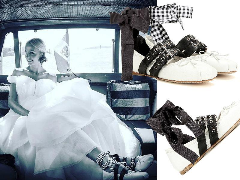 Buty Miu Miu, które włożyła na swój ślub Agnieszka Szulim