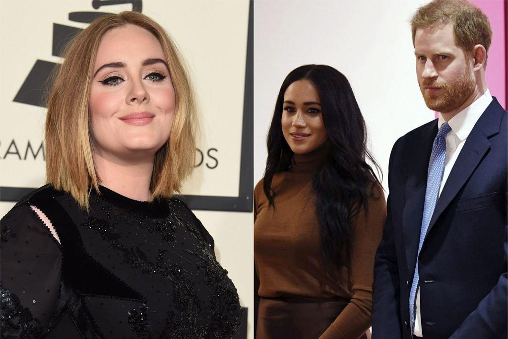 Adele, Meghan Markle książę Harry