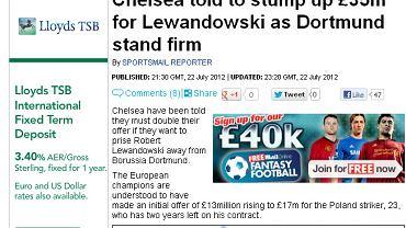 """Screen z artykułu """"Daily Mail"""""""