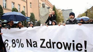 Strajk głodowy lekarzy rezydentów w Łodzi, październik 2017
