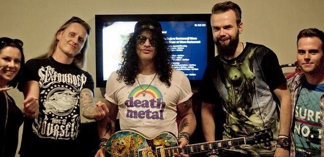 Slash i jego Gibson Les Paul