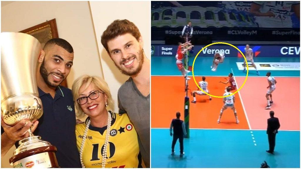 Earvin N'Gapeth i Bruno Rezende (po lewej) już dołączyli do Leo Shoes Volley Modena, a blisko przejścia do klubu mają być Joandry Leal, Nimir Abdel-Aziz i Simone Rossini (dwaj ostatni po prawej)