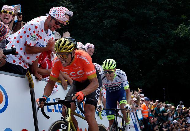 Greg Van Avermaet w drodze po białą koszulkę w czerwone grochy dla najlepszego górala Tour de France