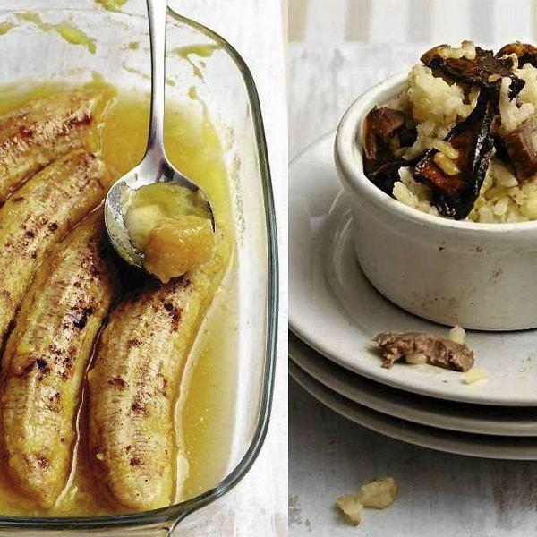 Banany flambirowane po barbarzyńsku i Risotto z gęsimi żołądkami