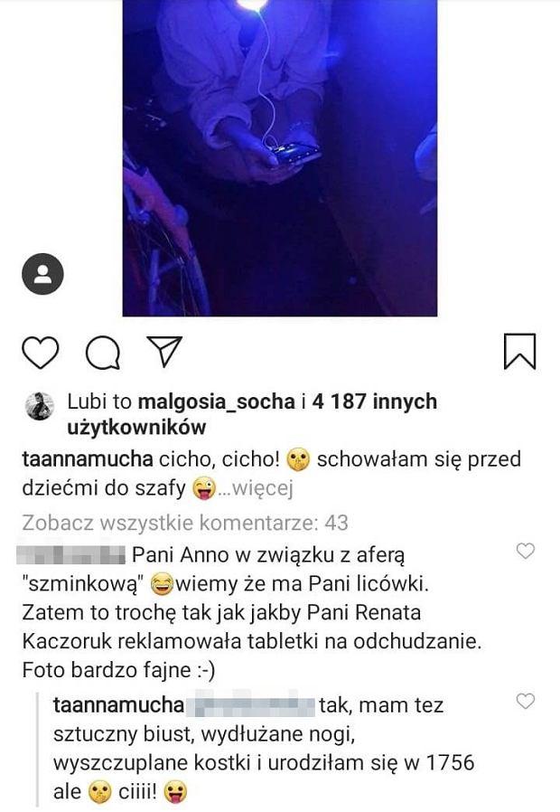 Anna Mucha odpowiada internautce