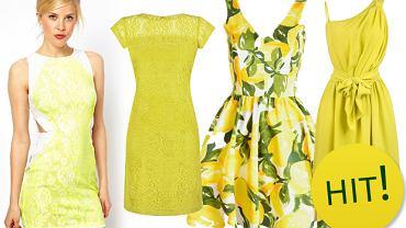 Sukienki w najmodniejszych odcieniach żółtego