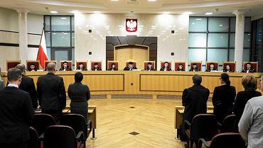 Sędziowie Trybunału Konstytucyjnego podczas jednej z rozpraw w 2015 r.