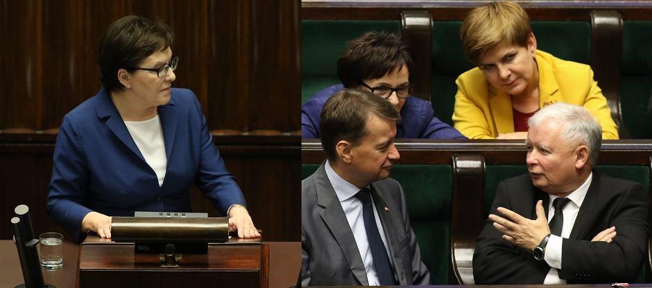 Ewa Kopacz i Jarosław Kaczyński w Sejmie