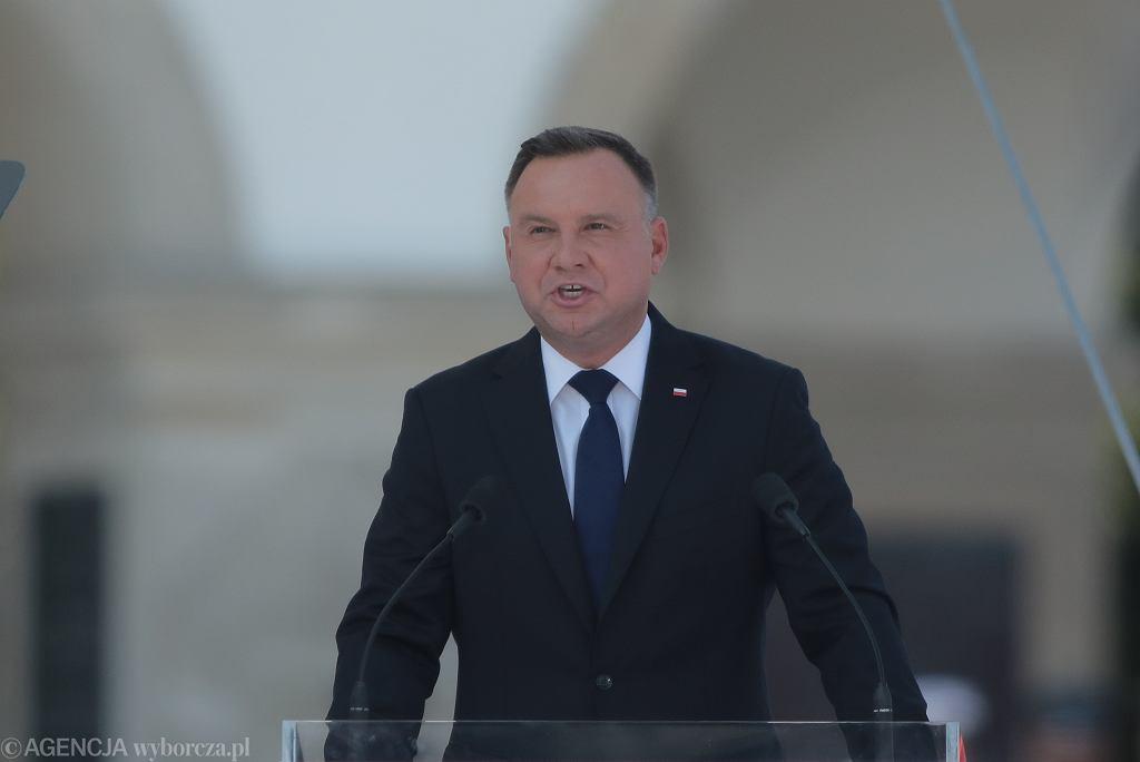 Andrzej Duda podczas obchodów 80. rocznicy wybuchu II wojny światowej