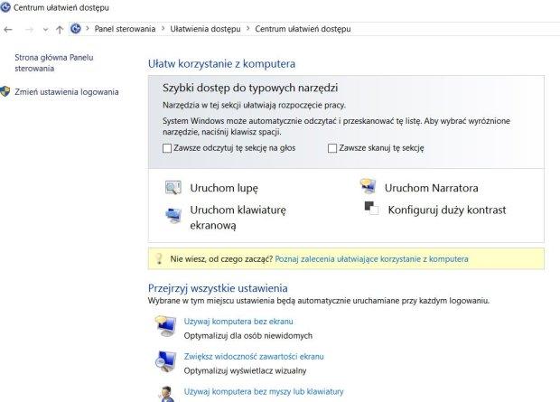 Windows - ułatwienia
