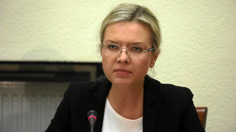 Przewodnicząca komisji ds. afery Amber Gold Małgorzata Wassermann podczas posiedzenia. Komisja przesłuchuje byłego premiera Donalda Tuska. Warszawa, 5 listopada 2018