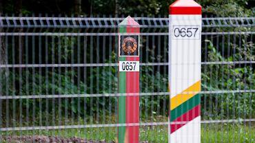 Pas graniczny pomiędzy Białorusią a Litwą.
