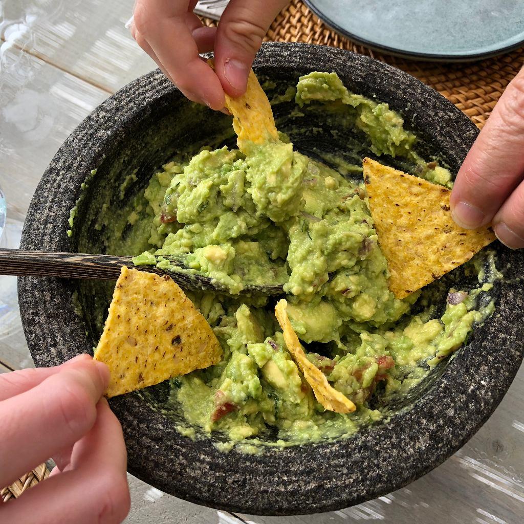 Guacamole do nachosów