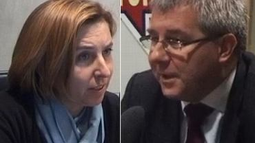 """Dominika Wielowieyska i Ryszard Czarnecki w """"Poranku Radia TOK FM"""""""