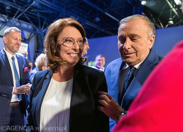 Wybory parlamentarne 2019. Grzegorz Schetyna i Małgorzata Kidawa - Błonska