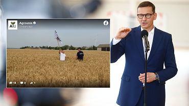Wizyta premiera Mateusza Morawieckiego zagłuszona przez Agrounię