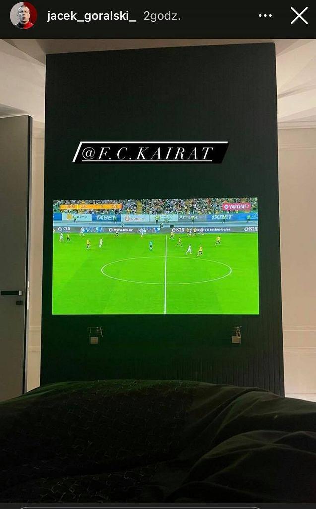 Jacek Góralski oglądał zwycięstwo Kairatu nad Crveną Zvezdą