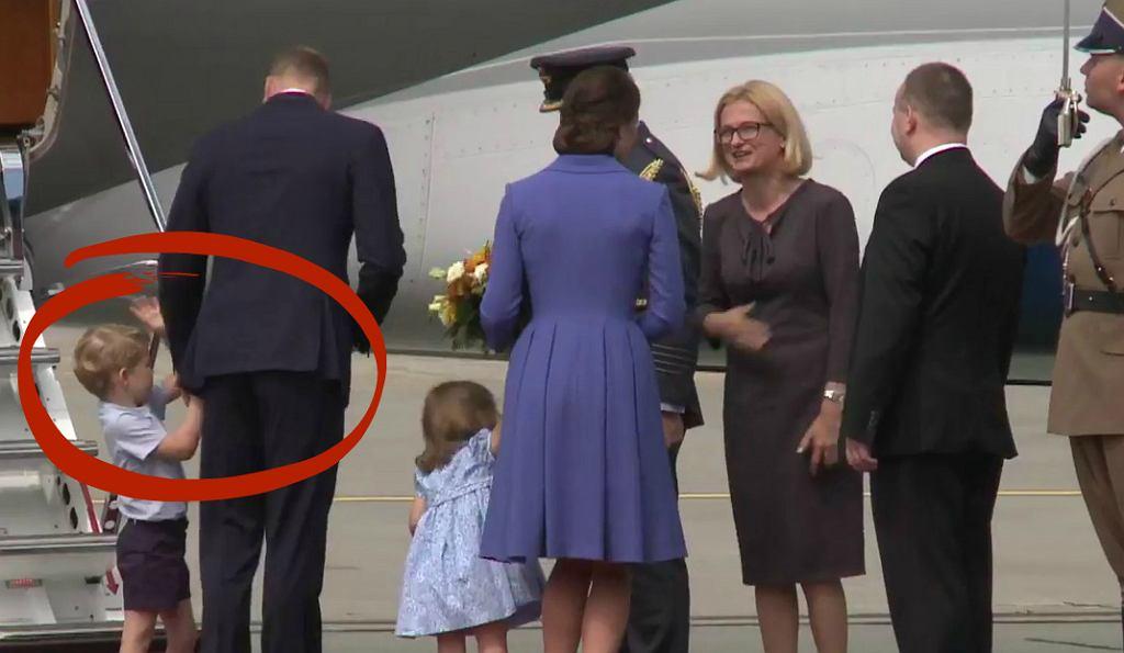 Brytyjska para książęca opuszcza Polskę