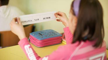 Lekcja polskiego w szkole podstawowej