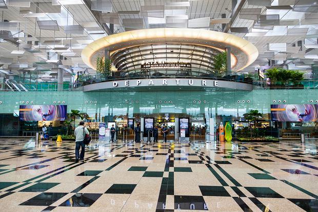 Hala odlotów na lotnisku Singapur-Changi