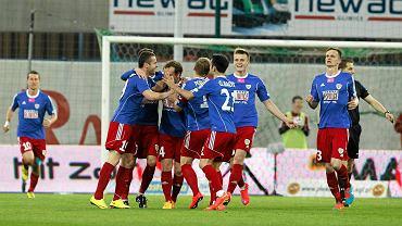 Piast Gliwice w ligowym meczu