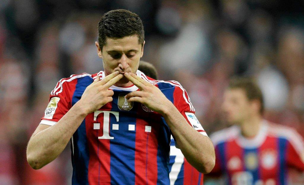 Bayern Monachium - Borussia Dortmund. Robert Lewandowski