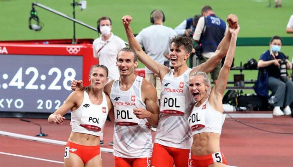 Polscy sztafeciści 4x400 metrów