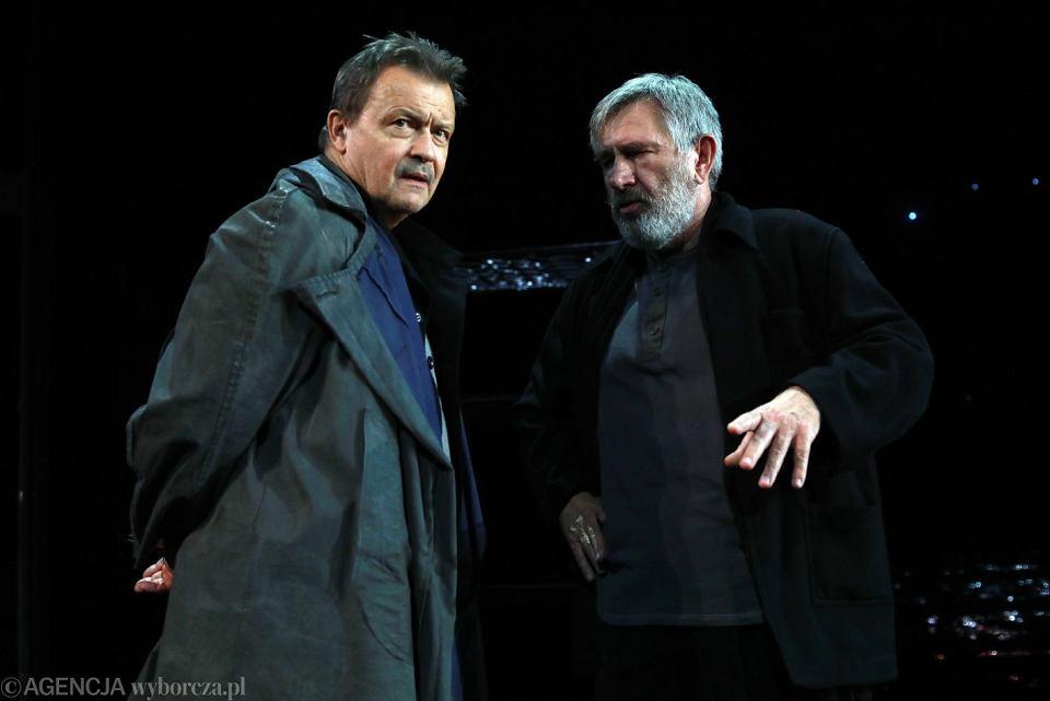Jan Frycz i Jerzy Radziwiłowicz podczas próby spektaklu 'Burza Williama Szekspira'