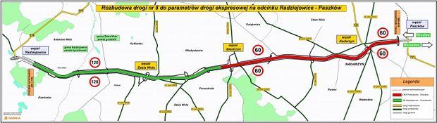 Trasa S8 - droga ekspresowa z ograniczeniem do 60 km/h