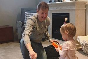 Rafał Mroczek z córką