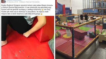Wystające z podłogi gwoździe w miejscu, w którym bawią się dzieci, to gotowy przepis na wypadek