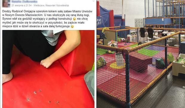 3-latek przebił stopę gwoździem na sali zabaw. Obsługa: Za dzieci odpowiadają rodzice [AKTUALIZACJA]