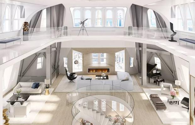 Penthouse znajdujący się w w budynku Woolworth w Nowym Jorku.