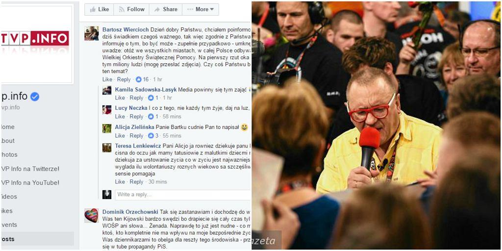Brak wzmianki o WOŚP na tvp.info