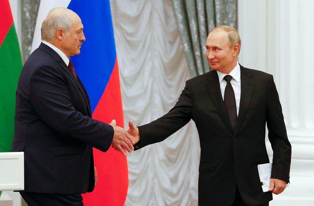 9.09.2021, Moskwa, spotkanie Władimira Putina z Aleksandrem Łukaszenką.