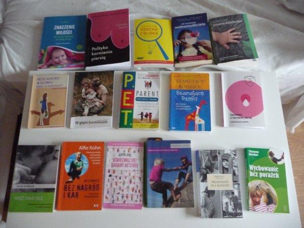 To tylko część książek, które przeczytałam podczas ciąży (fot. archiwum prywatne)