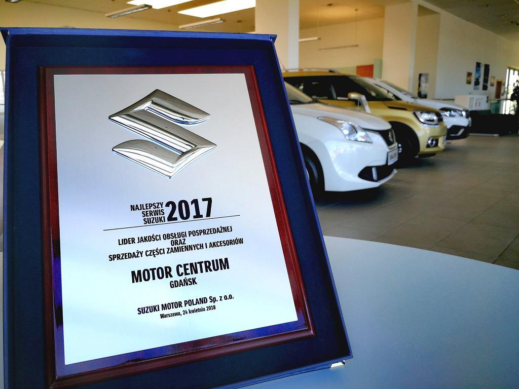 Motor Centrum otrzymało ważną nagrodę od Suzuki