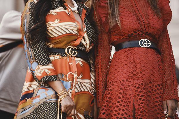 Pasek Gucci z charakterystyczną klamrą z logotypem