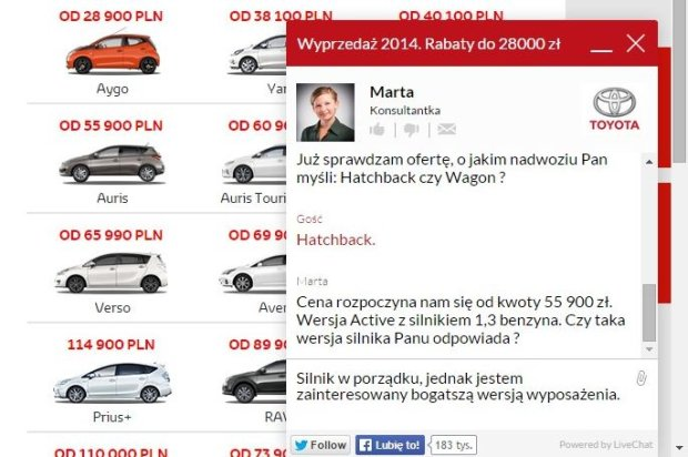 Toyoty LiveChat