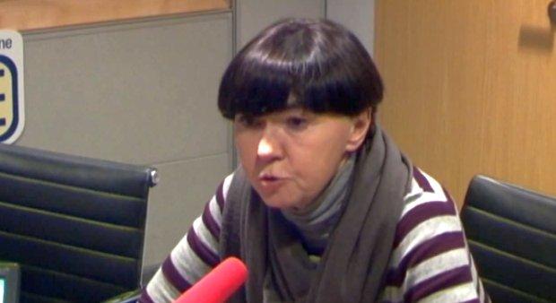 Barbara Piwnik w studiu radia TOK FM