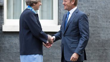 Theresa May i Donald Tusk