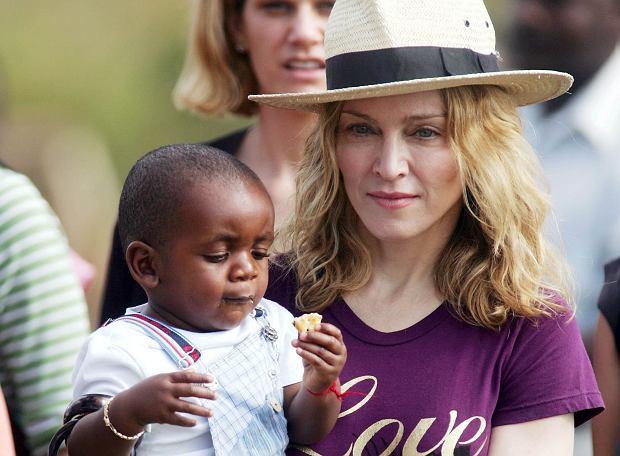 Madonna z synkiem Davidem, 2007 r.