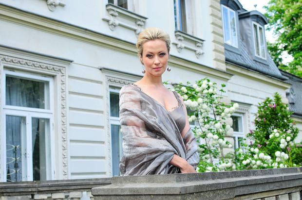 Agnieszka Wagner na planie serialu 'Synowie'