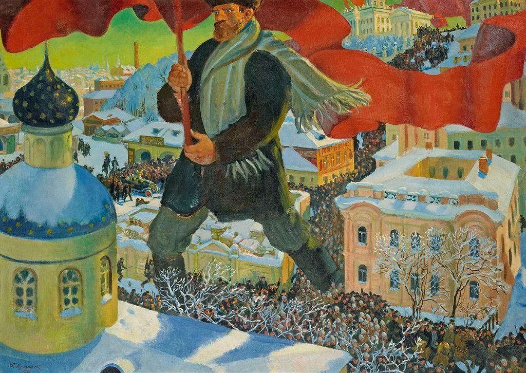 Boris Mikhailovich Kustodiev, Bolshevik, 1920. / Boris Mikhailovich Kustodiev, Bolshevik, 1920.