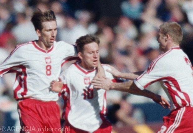 Jerzy Brzęczek podczas meczu z Anglią (1999 r.)