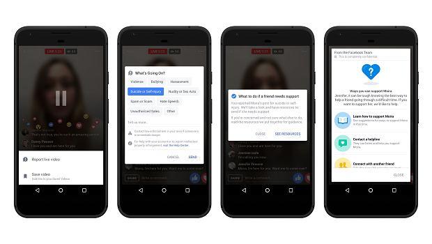 Nowe narzędzia do raportowania o próbach samobójczych na Facebook Live