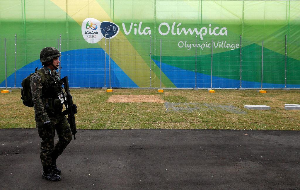 Brazylijscy żołnierze pilnują bezpieczeństwa na igrzyskach w Rio