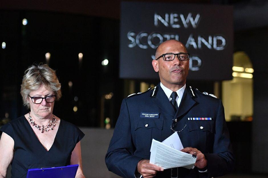 Konferencja policji w siedzibie Scotland Yardu